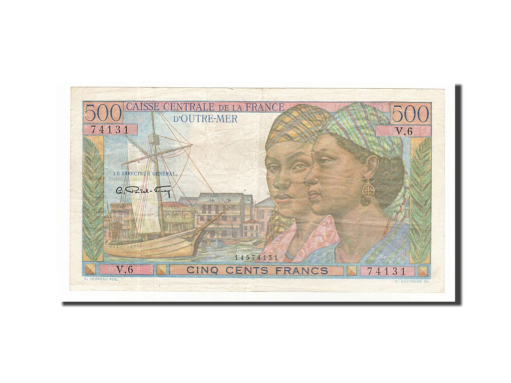Banknote, French Equatorial Africa, 500 Francs, 1949, AU(50-53)