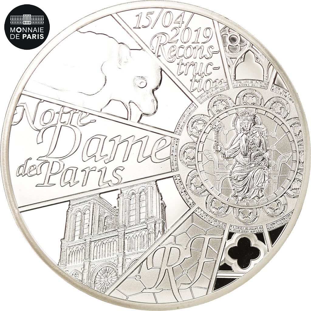10 Euro Silver Notre Dame Paris 2019 Proof France Reconstruction Cathedral