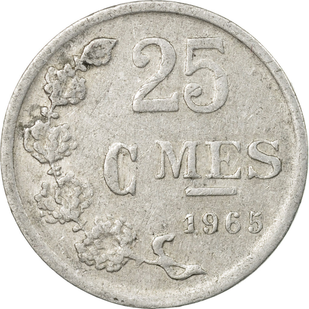 Jean Luxembourg 1965-25 Centimes Aluminum Coin
