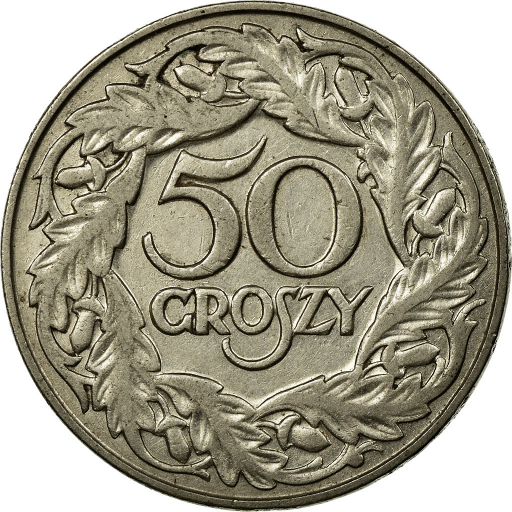 Circulated 1923 Poland 50 Groszy 8 Available 1 Coin Only