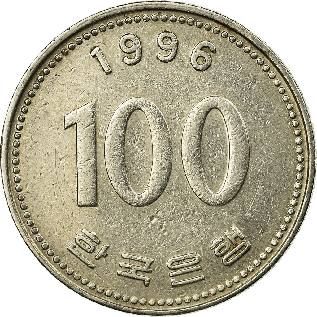 south korea 100 coin value