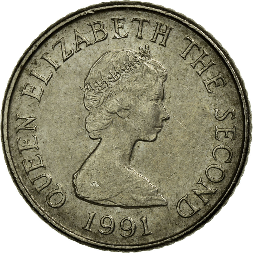 1991 5 pence coin